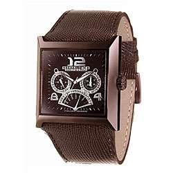 Haurex Italy Escape Womens Brown Leather Watch