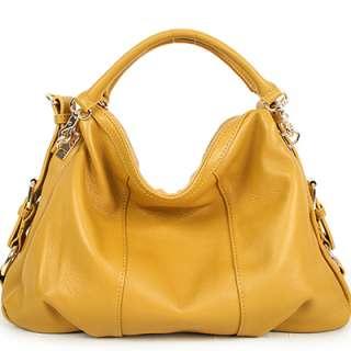 NWT Genuine leather VANESSA satchel shoulder bag+strap