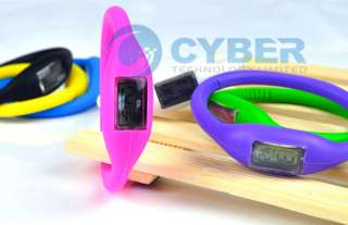 Cute Ion Jelly Silicone Rubber Sports Wrist Watch Color