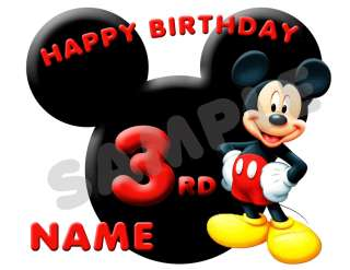 Mickey Mouse Personalized Age Name Birthday Shirt New