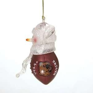 UCLA Bruins NCAA Acrylic Football Snowman Ornament (2.75