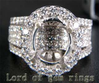 Cut   3.03CT DIAMOND 14K White GOLD Engagement RING SETTING