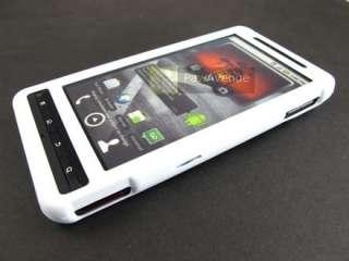 WHITE Rubberized Hard Case Cover Motorola Droid X X2 2