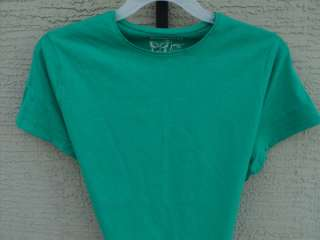 NEW WOMENS JUST MY SIZE ESSENTIALS S/S CREW NECK TEE SHIRT KELLY GREEN