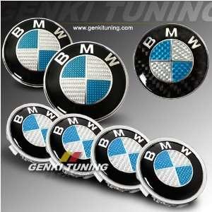 BMW E65 66 02 up 7 Series Hood Trunk Roundel Steering wheel Emblem