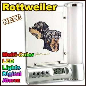 DOGS Rottweiler Photo Frame Digital DOG Alarm Clock Light