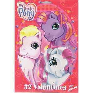My Little Pony Valentines Day Cards 32 Count Box Toys & Games