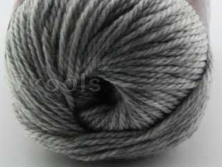 2x100g Cashmere Modal Wool Sweater/Scarf/Shawl Yarn,Worsted,Smoky Grey