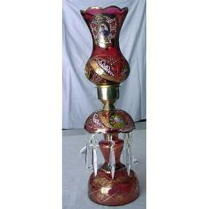 Persian Luster Lamp Lal e Shamdoon with Portrait of Nasser Al Din Shah