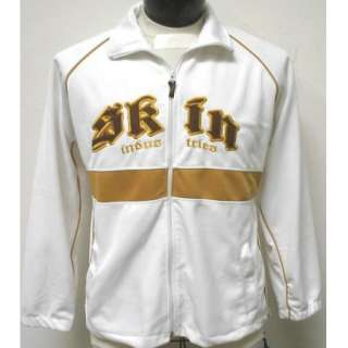 Industries White Sewn Logo Rebel Tattoo MMA Track Jacket XL