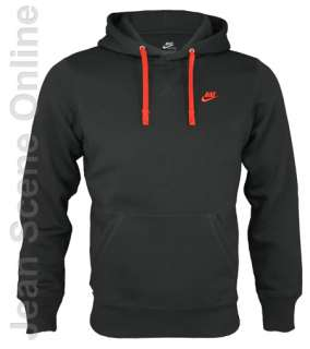 Homme Fleece Hooded Sweatshirt Black Hoodie Top Sizes S M L XL