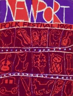 BOB DYLAN & JOAN BAEZ 1964 NEWPORT FOLK FESTIVAL PROGRAM BOOK