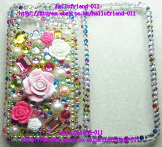 Rhinestone BLing Case Cover For HTC Droid Incredible 6300 #4