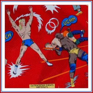 BOOAK Fabric Wrestling Sport RED Cartoon Super Hero BOY Cotton Quilt