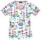 Scrubs Cherokee Print Top Hello Kitty Scribble Kitty 6546 HKSC Buy 3