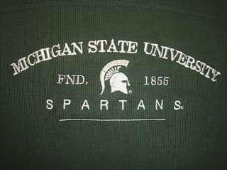 MSU Michigan State University Spartans Heavyweight Long Sleeve