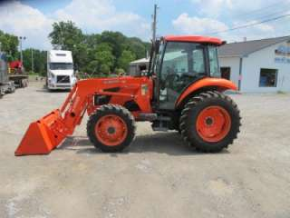 2010 KUBOTA M5040 4X4 TRACTOR WITH CAB AND LOADER, NICE