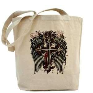 Tote Bag Cross Angel Wings