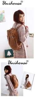 New Fashion Vintage Ladys PU Leather Shoulder Backpack Hand Bag Purse