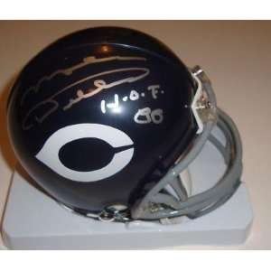 com Mike Ditka Signed Mini Helmet w/COA 1985 Chicago Bears Super Bowl
