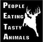 Vinyl Decal PETA People Eating Tasty Animal deer hunt hunting sticker