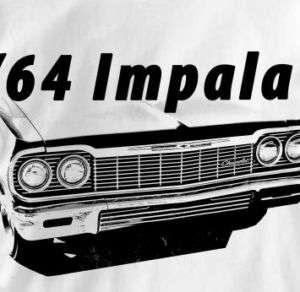 Chevy Impala 1964 Classic Chevrolet Car Auto T Shirt XL