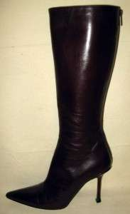 JIMMY CHOO Dark Brown Knee High Boots Size 39/9US