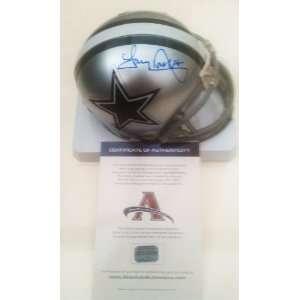 Tony Dorsett Signed Dallas Cowboys Mini Helmet Everything