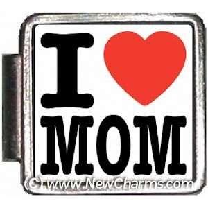 I Love Mom Italian Charm Bracelet Jewelry Link A10389
