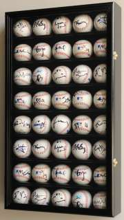 40 MLB Baseball Display Case Cabinet Rack 98% UV door