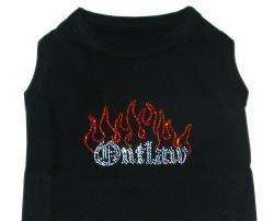 Outlaw & Flames Dog Shirt Clothes Many Colors Available