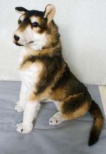 Large Eskimo Dog Puppy HUGE Plush Stuffed Animal phantom Dog 36X44