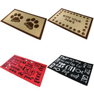 Washable Large Doormat Door Mat Large Pet Mat Four Designs Cat Dog NEW