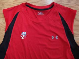 UNDER ARMOUR US SKI Team USA Heat Gear Tank Top Shirt Mens XL