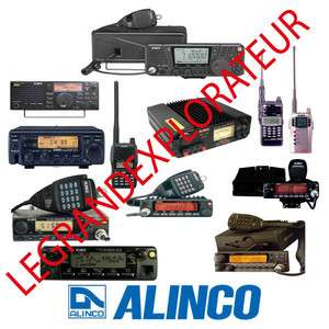 Alinco radio repair service & instructions manuals