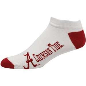 NCAA Alabama Crimson Tide White Logo & Name Ankle Socks