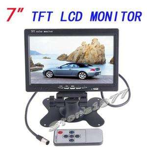 New 7 PILLOW TFT LCD Color Car Monitor DVD VCR S855