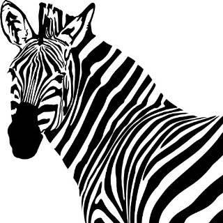 Zebra Head Style #2 Vinyl Wall Art Decal
