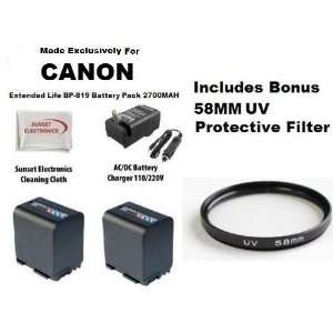 2 Pack Extended Life Replacement Battery Pack For Canon BP