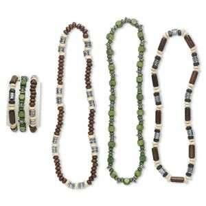 Necklace and bracelet mix, Chinese littleleaf boxwood