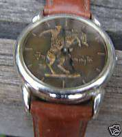 FRANKLIN MINT WESTERN FREDERIC REMINGTON WATCH + RING