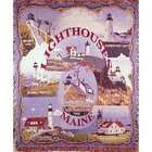 Simply Home Lighthouses of Maine Tapestry Throw Blanket 50 x 60