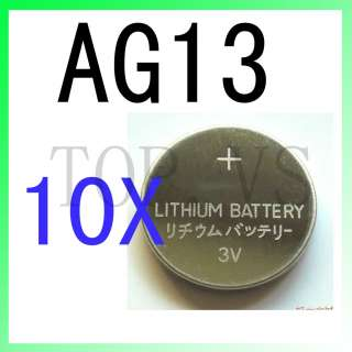 10x Lithium Coin Cell Battery AG13 AG 13 V357 GS14 SR44W SR44SW MS76