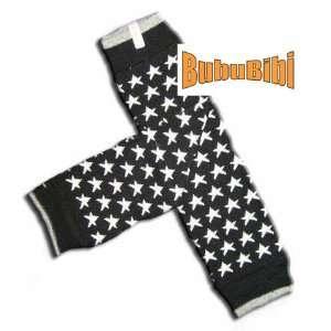 BLACK WITH WHITE STARS Baby Leggings/Leggies/Leg Warmers for Cloth