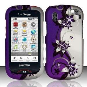 Purple Silver Vines HARD Protector Case Snap on Phone Cover for