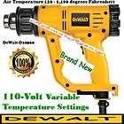 DEWALT   Heat Gun Kit   110 V Variable Temp. Settings