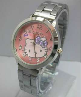 Hello kitty women watch lady girl wristwatch watches Steel Band 5