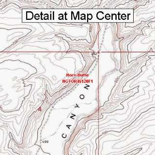 Topographic Quadrangle Map   Horn Butte, Oregon (Folded/Waterproof