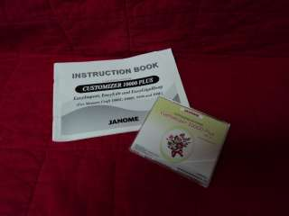 Janome Memory Craft 10000 Quilting Sewing & Embroidery Machine Lots of