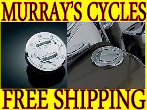 KURYAKYN FLUSH MOUNT GAS CAP SET FOR HARLEY LED GAUGE